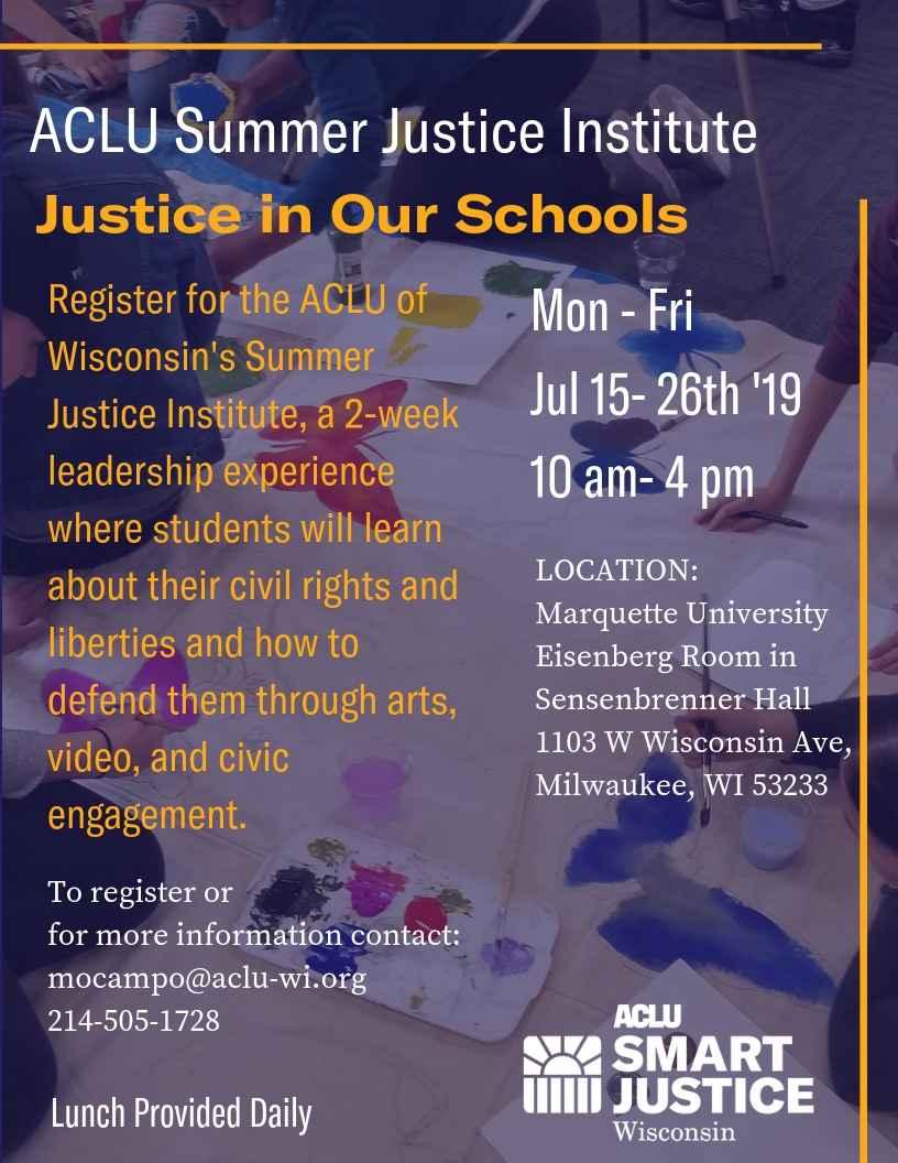 Summer Justice Institute Flyer