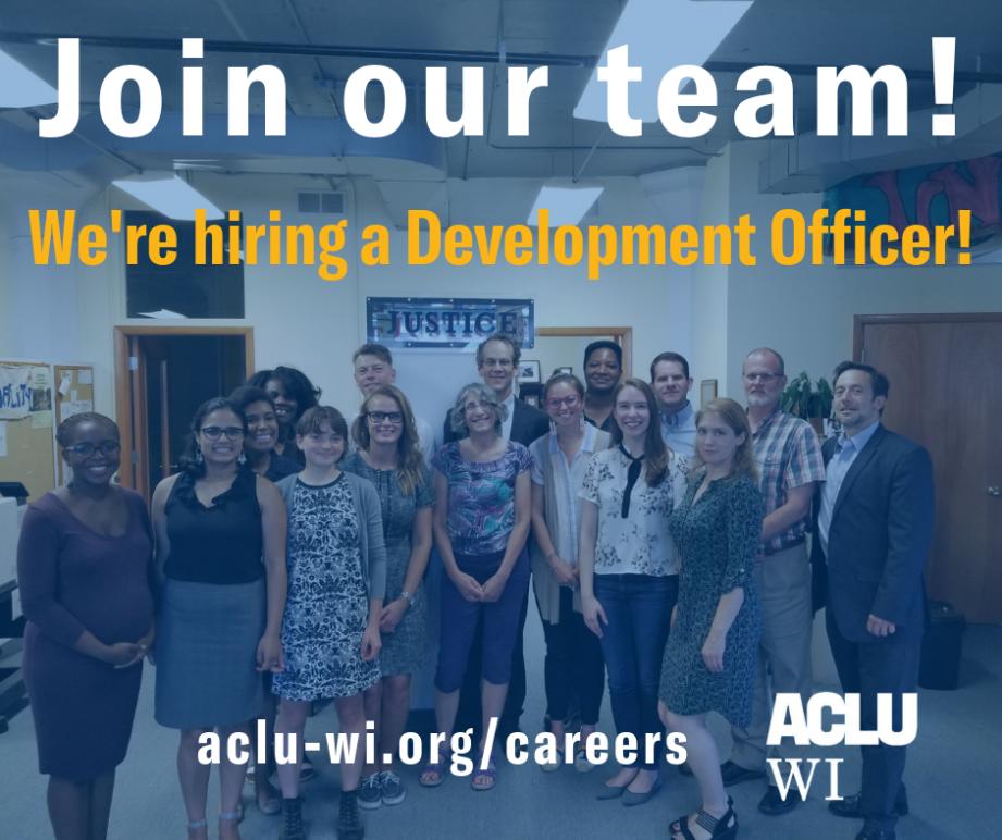 We're hiring a Development Officer!