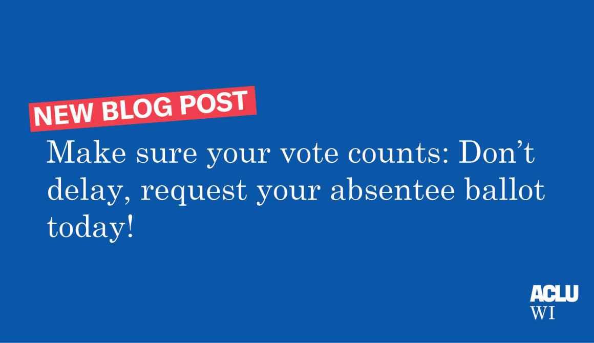Absentee ballot blog