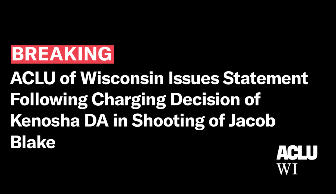 ACLU statement breaking kenosha