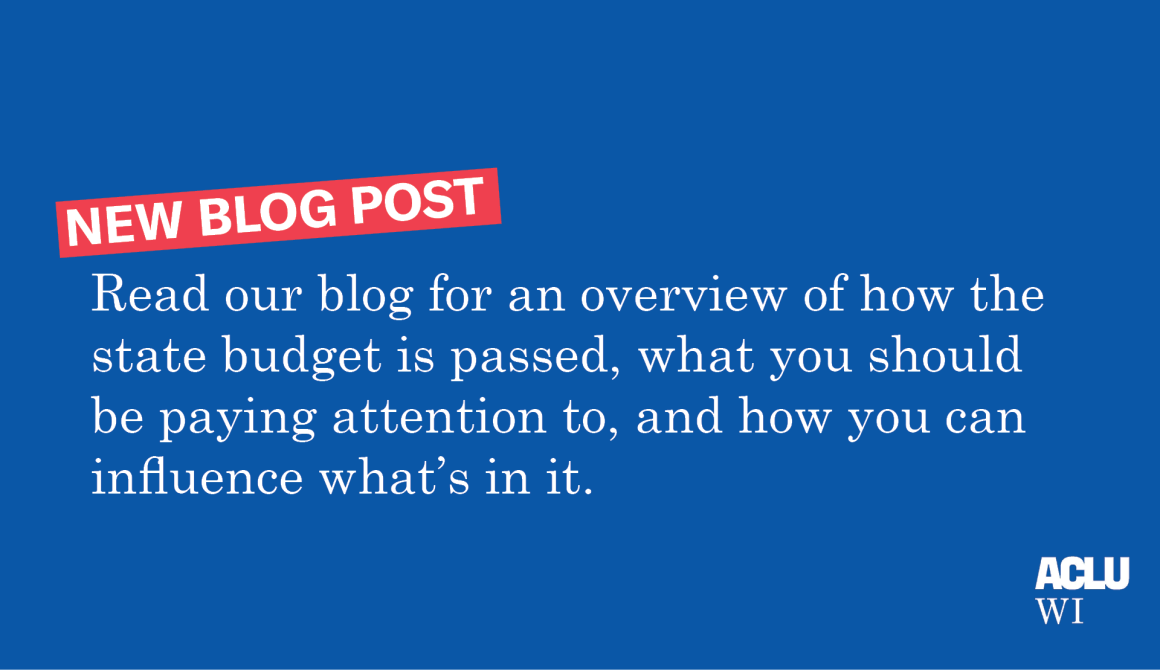Read our blog for an overview of how the state budget is passed, what you should be paying attention to, and how you can influence what's in it.