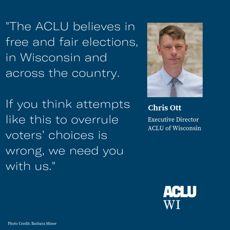 ACLU statement on Gov Walker's attack on democracy