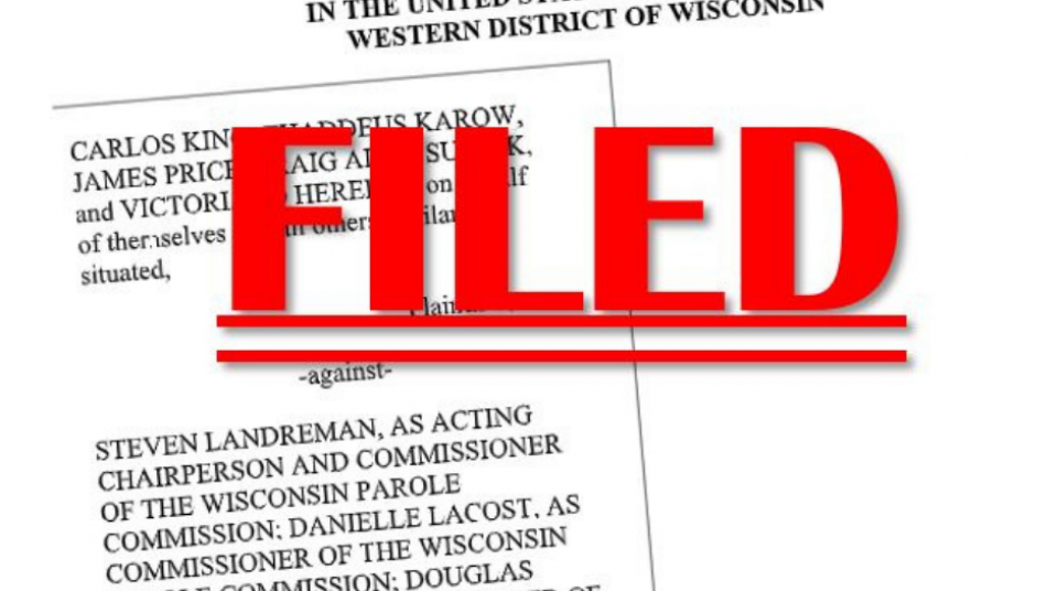 ACLU of Wisconsin challenges Wisconsin's Unconstitutional Parole