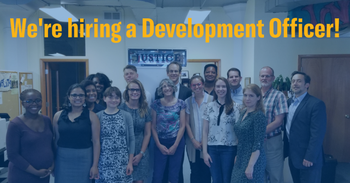 We're hiring a Development Officer!